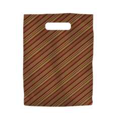 Burgundy Plastic Bag with Gold Stripes Small 1000PK