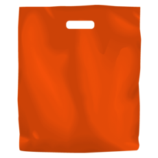 Plastic Bag Low Density Large - Orange 500PK