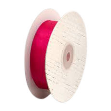 25mm Cut Edge Organza Ribbon - Hot Pink (25mm x 50 Metres)