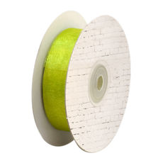 25mm Cut Edge Organza Ribbon - Lime (25mm x 50 Metres)