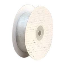 25mm Cut Edge Organza Ribbon - Silver (25mm x 50 Metres)