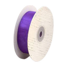25mm Cut Edge Organza Ribbon - Violet (25mm x 50 Metres)