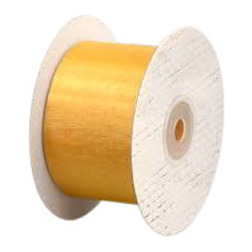 50mm Cut Edge Organza Ribbon - Gold (50mm x 50 Metres)