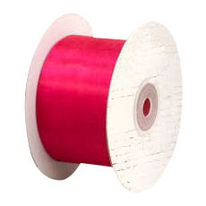50mm Cut Edge Organza Ribbon - Hot Pink (50mm x 50 Metres)
