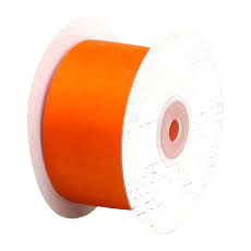 50mm Cut Edge Organza Ribbon - Orange (50mm x 50 Metres)
