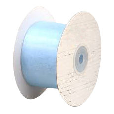 50mm Cut Edge Organza Ribbon - Pale Blue (50mm x 50 Metres)
