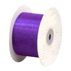 50mm Cut Edge Organza Ribbon - Violet (50mm x 50 Metres)