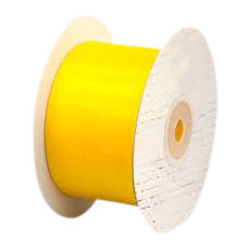 50mm Cut Edge Organza Ribbon - Yellow (50mm x 50 Metres)