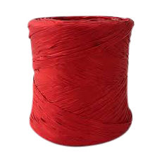 Poly Raffia Ribbon - Red (5mm x 200metres)