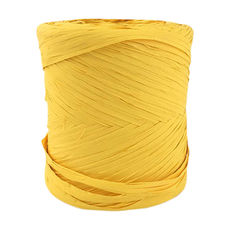 Poly Raffia Ribbon - Yellow (5mm x 200metres)