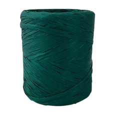 Poly Raffia Ribbon - Hunter Green (5mm x 200metres)