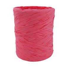 Poly Raffia Ribbon - Cerise (5mm x 200metres)