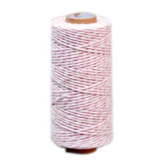 Pale Pink/ White Bakers Twine 2mm x 100 metres