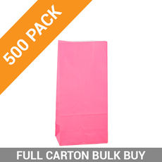 Carnival Gift Bag Medium No Handles - Pink 500PK