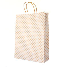 White Spot Kraft Midi Paper Bag - 100PK