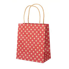 Red Spot Kraft Toddler Paper Bag - 100PK