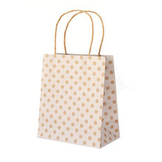 White Spot Kraft Toddler Paper Bag - 100PK