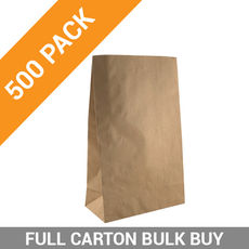 Flat Bottom Brown Bag - Supermarket Small - 500PK