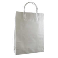 50 PACK - White Kraft Paper Bag Small