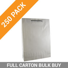 Deluxe White Kraft Paper Gift Bag Medium - 250PK