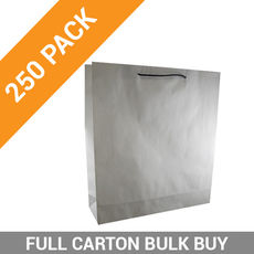 Deluxe White Kraft Paper Gift Bag Large - 250PK
