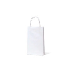 TEMP OUT OF STOCK - White Kraft Paper Gift Bag Baby - 500PK