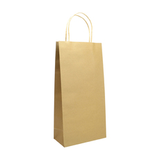 Double Wine - Paper Wine Bag Kraft Brown 100 PACK