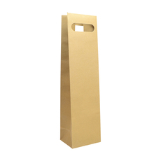 Single DC - Paper Wine Bag Kraft Brown - 100 PACK