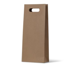 Double DC - Paper Wine Bag Kraft Brown - 100 PACK