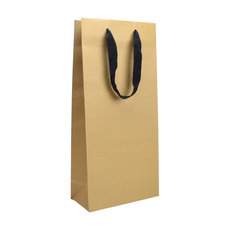 Double Deluxe - Paper Wine Bag Kraft Brown - 100 PACK