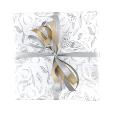 Xmas Partridge Silver Wrapping Paper (500mm x 50 Metres)