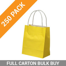 Carnival Paper Gift Bag Toddler - Yellow 250PK