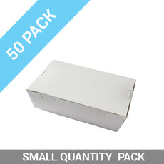 50PK Lunch Boxes - Large White
