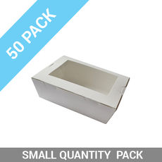 50PK Lunch Boxes Window - Small White