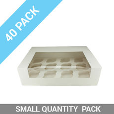 40PK 12 Cupcake Box with Insert