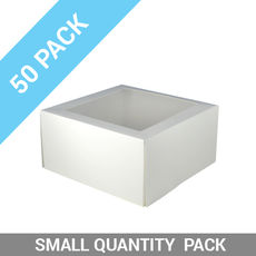 TEMP OUT OF STOCK UNTIL MID JULY - 50PK Window Patisserie Box - Square 9 Deep